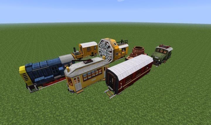 мод на поезд в майнкрафт 1.7.10 #6