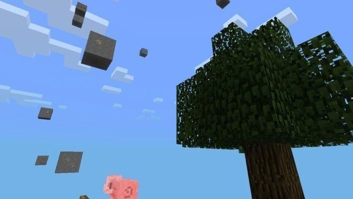 карта Skyblock для Pocket Edition