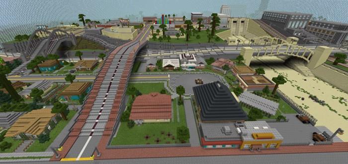 Карта из ГТА Сан Андреас в Майнкрафт ПЕ