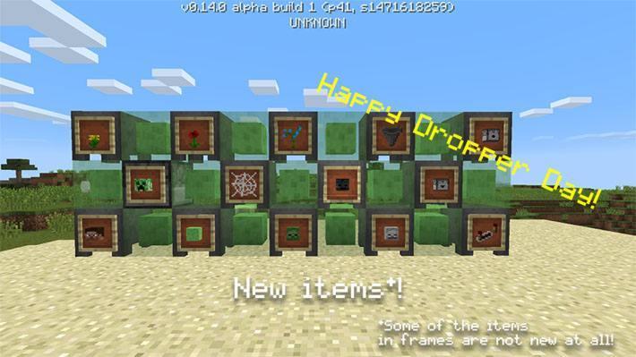 Блоки слизи, рамки с предметами и другие вещи из обновления 0.14.0