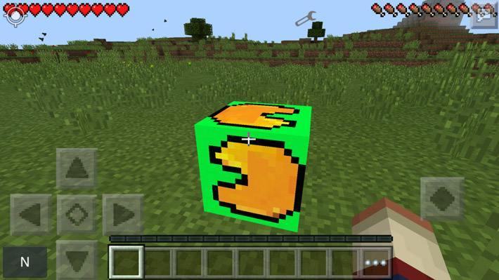Зеленый лаки блок до разрушения