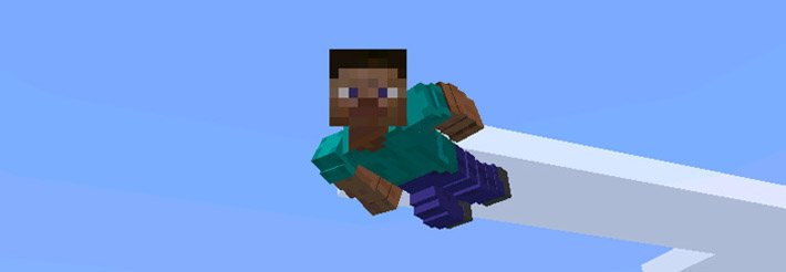 Летающий Стив с новой анимацией