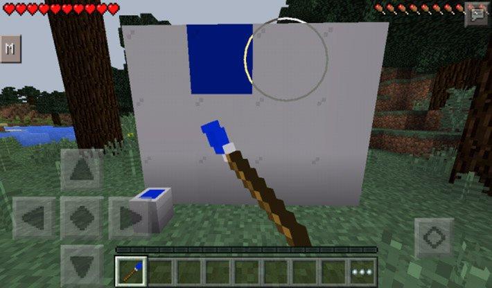 Красим стену в синий цвет