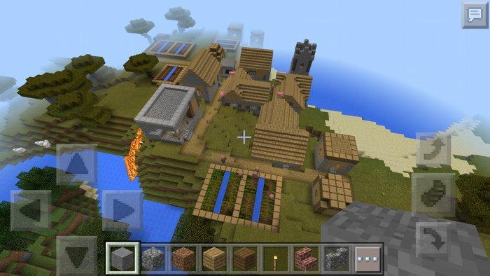 сид на карту с большой деревней для майнкрафт 0.14.0 #3