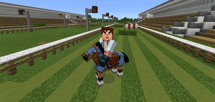 Гонки на лошадях в Майнкрафте