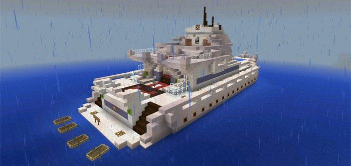 Яхта на которой герой прибывает на остров