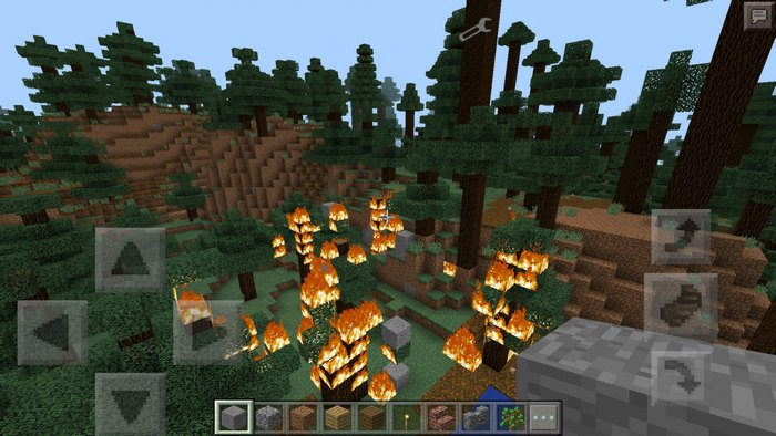Херобрин поджог лес