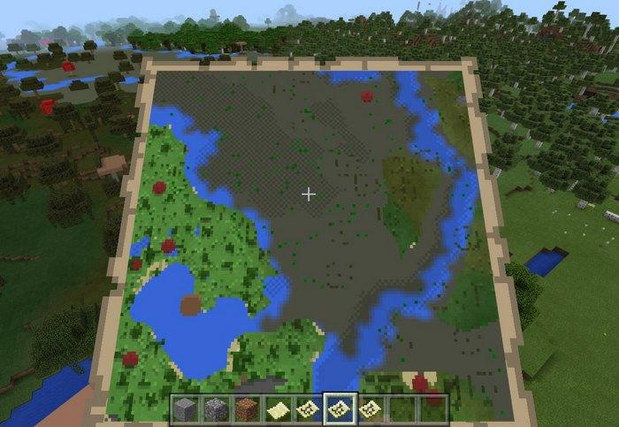 Лесной и болотный биом теперь можно различить на карте по цвету