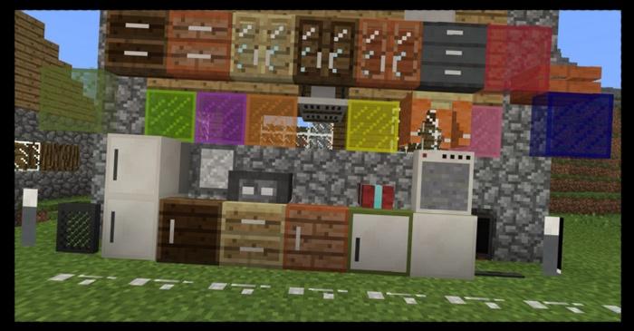 Вся мебель, которая будет добавлена в Майнкрафт