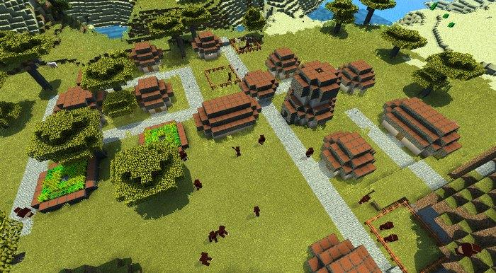 Вид на новую деревню с высоты птичьего полета