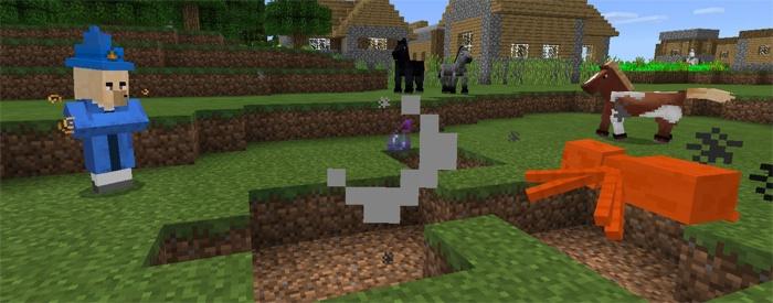 Волшебник защитит в схватках с монстрами в Minecraft PE