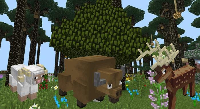 Фауна в моде Twilight Forest весьма разнообразна
