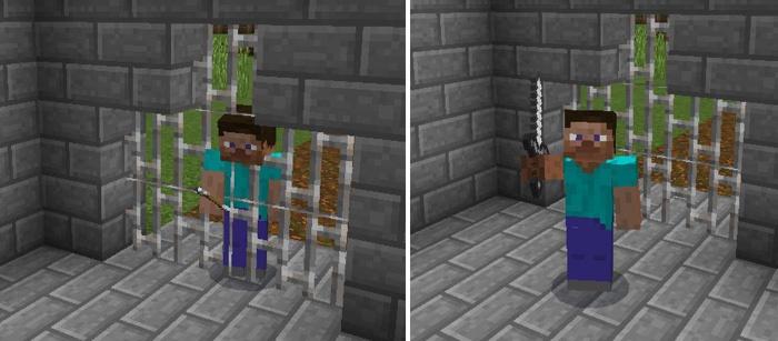 Функция прохождения сквозь стены в Майнкрафте