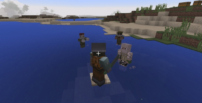 Бандиты и зомби атакуют игрока
