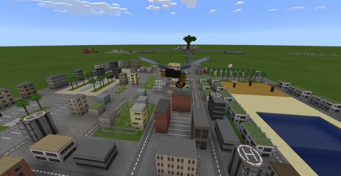 Полет над мини-городом