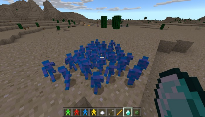 Приманиваю синих солдатиков алмазом