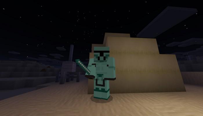Штурмовик из Звездных войн в алмазной броне
