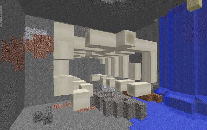 Останки гигантского животного в Minecraft