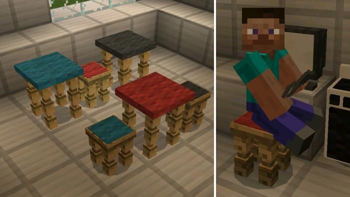 Стулья на которых игрок может сидеть