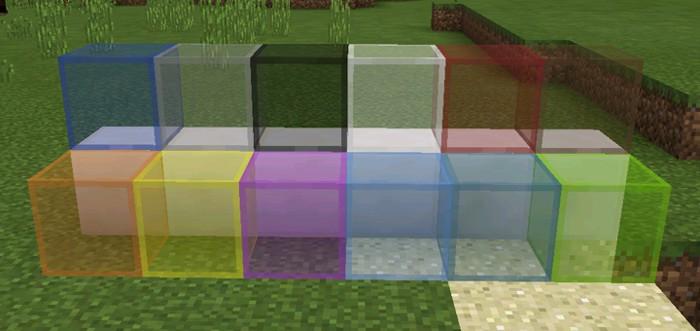 Цветное стекло в Minecraft PE 1.2.0