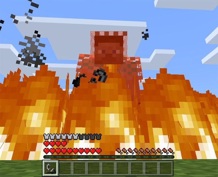 Новая броня защищает и от огня