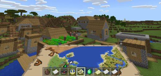Карта с функцией поиска деревень