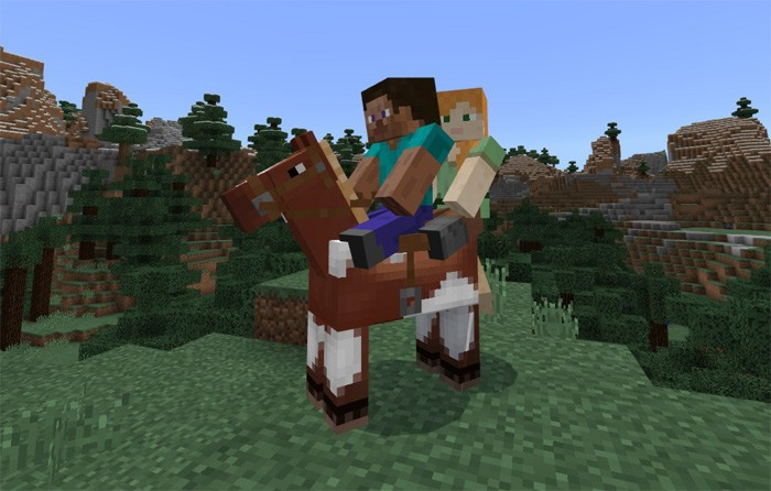 Два игрока верхом на лошади