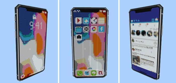 Iphone X в Minecraft PE