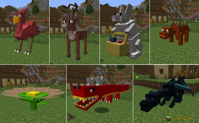 Ездовые животные в Майнкрафт