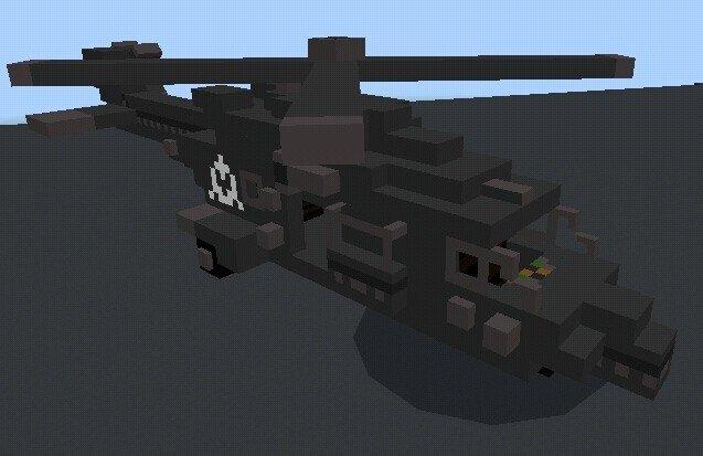Боевой вертолет в Майнкрафте