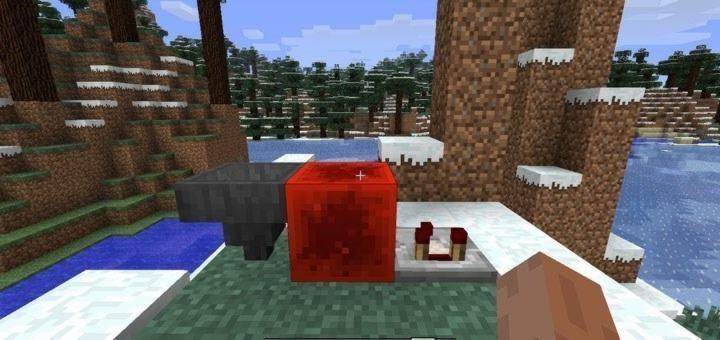 Блок красного камня, Воронка и Компаратор