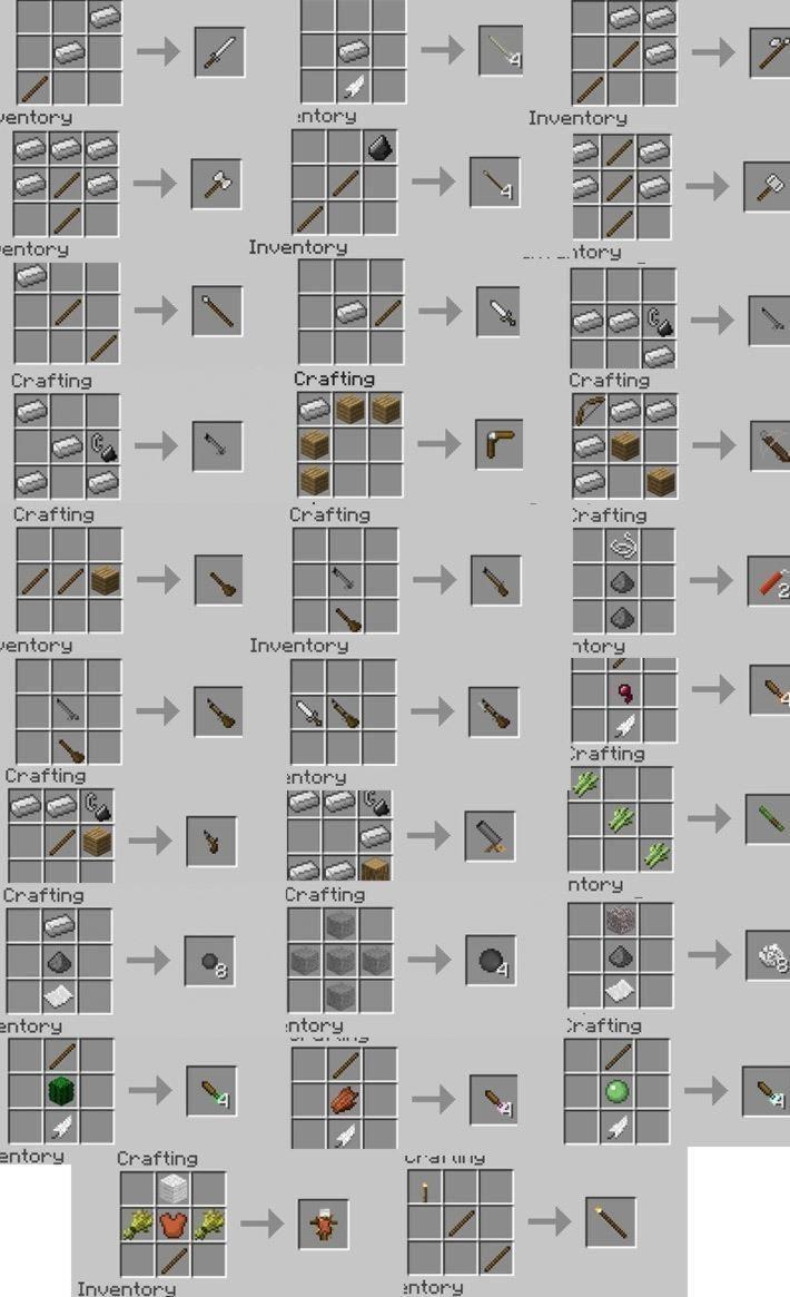 Рецепты для Balkons Weapon Mod