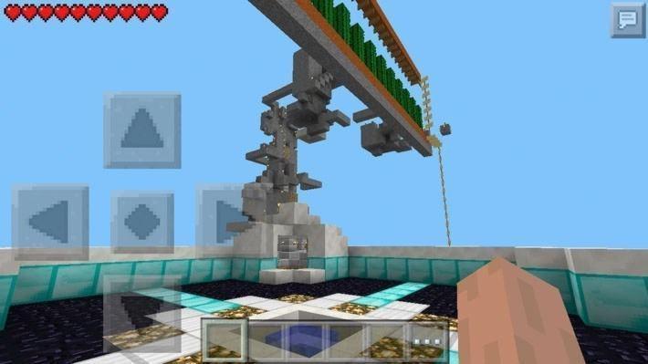 Сложная паркур карта для Minecraft PE