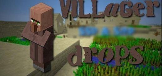 villager-drops-mod-pe