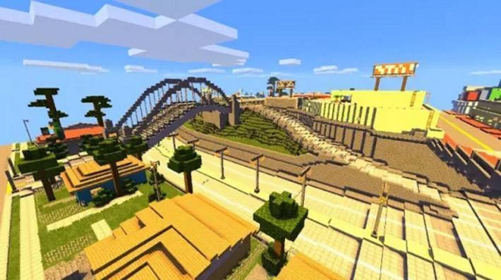 Карта GTA San Andreas воссозданная в Minecraft