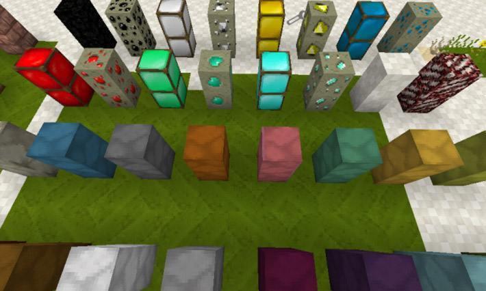 Новые текстуры руды и других блоков