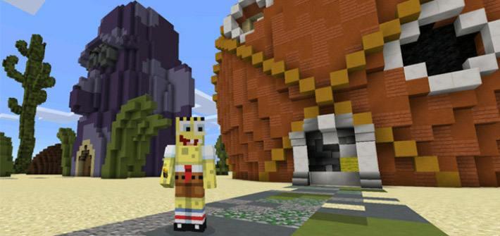 Sponge Bob на фоне своего дома
