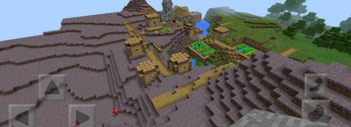Деревня расположенная в грибном биоме