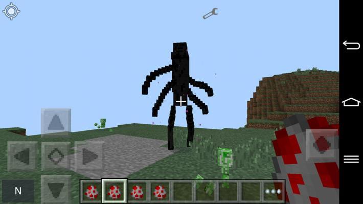 Эндермен мутант с четырьмя руками