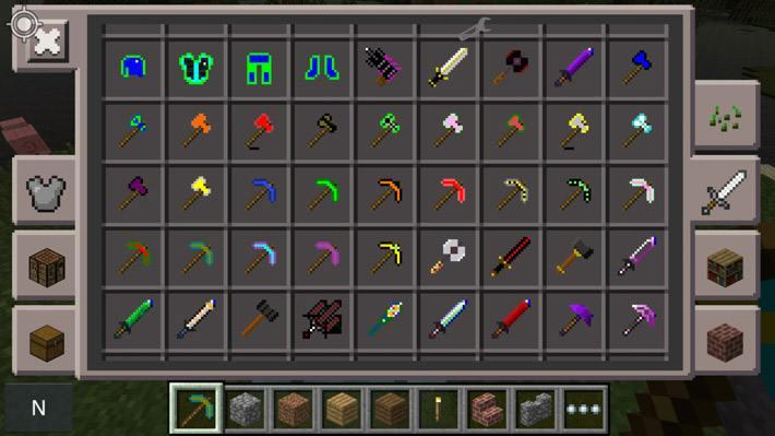 Оружие и инструменты из новой руды