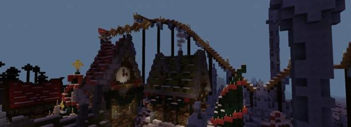 Конфетные домики и горы