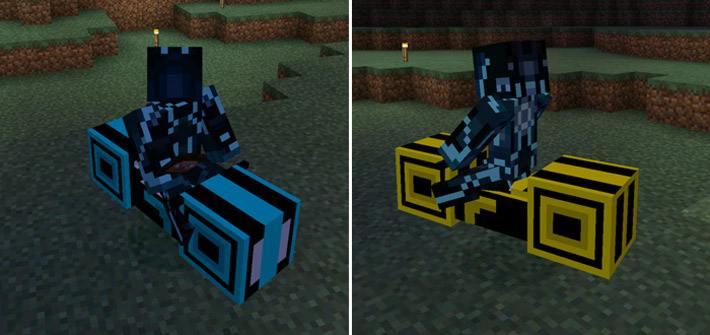 Мотоциклы синего и желтого цвета из фильма Трон
