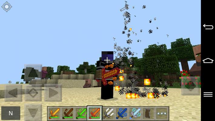 Лавовый меч с крутой анимацией частиц огня