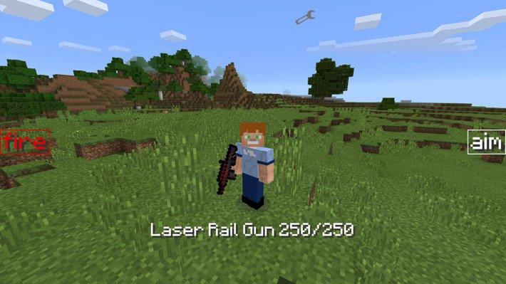 Лазерная рельсовая пушка в Майнкрафте