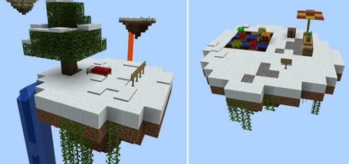 Зимний вариант карты Sky Block