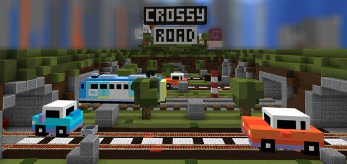 Реализация игры Crossy Road в Майнкрафте