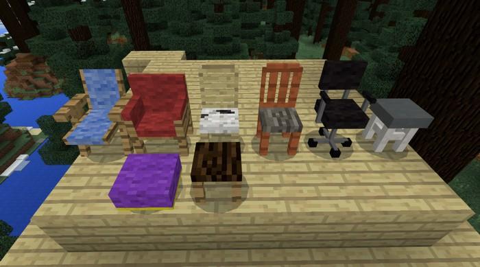 6 видов стульев и две тумбочки