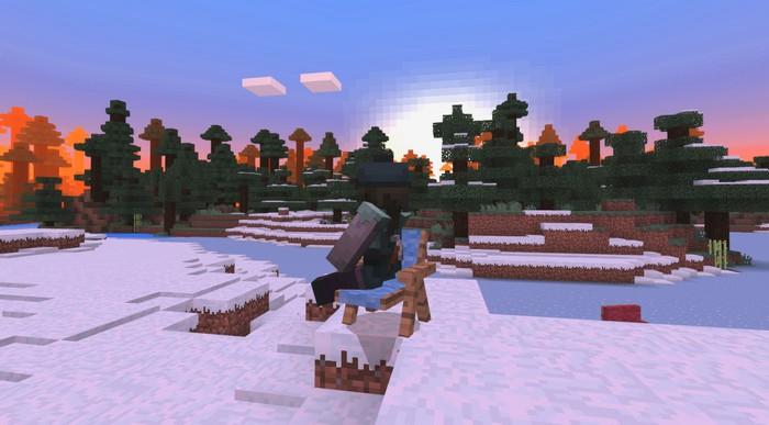 Любуюсь закатом на шезлонге