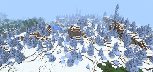 Большой биом с ледяными шипами