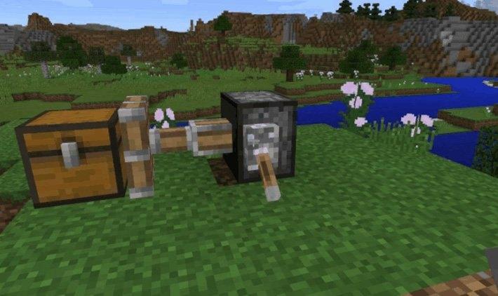 Демонстрация работы поршня в Minecraft 0.15.0 и его измененный по отношению к ПК версии вид